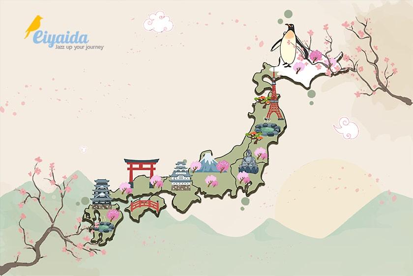 แผนที่ญี่ปุ่น By Eiyaida - Jazz Up Your Journey