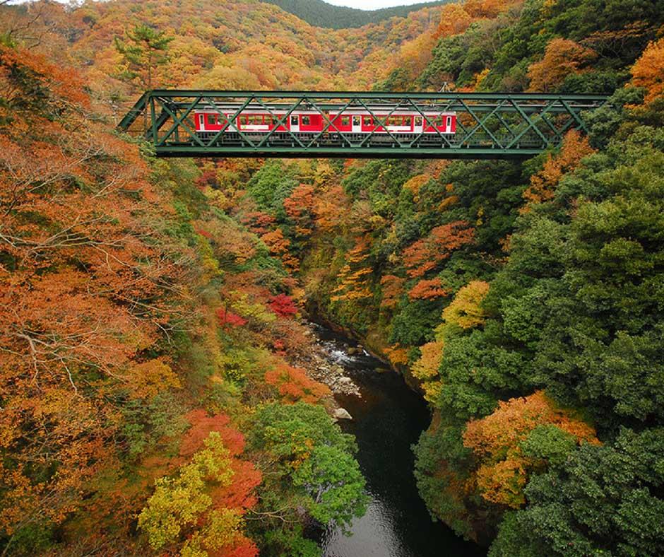 มนต์สเน่ห์สะพานเหล็ก ที่ Izayama Iron Bridge
