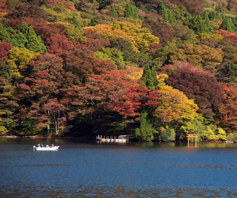 ล่องเรือชมใบไม้เปลี่ยนสี ที่ ทะเลสาปอะชิ