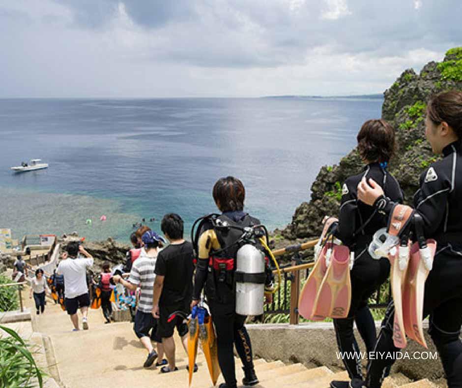 เที่ยวญี่ปุ่นหน้าร้อนดำน้ำลึก