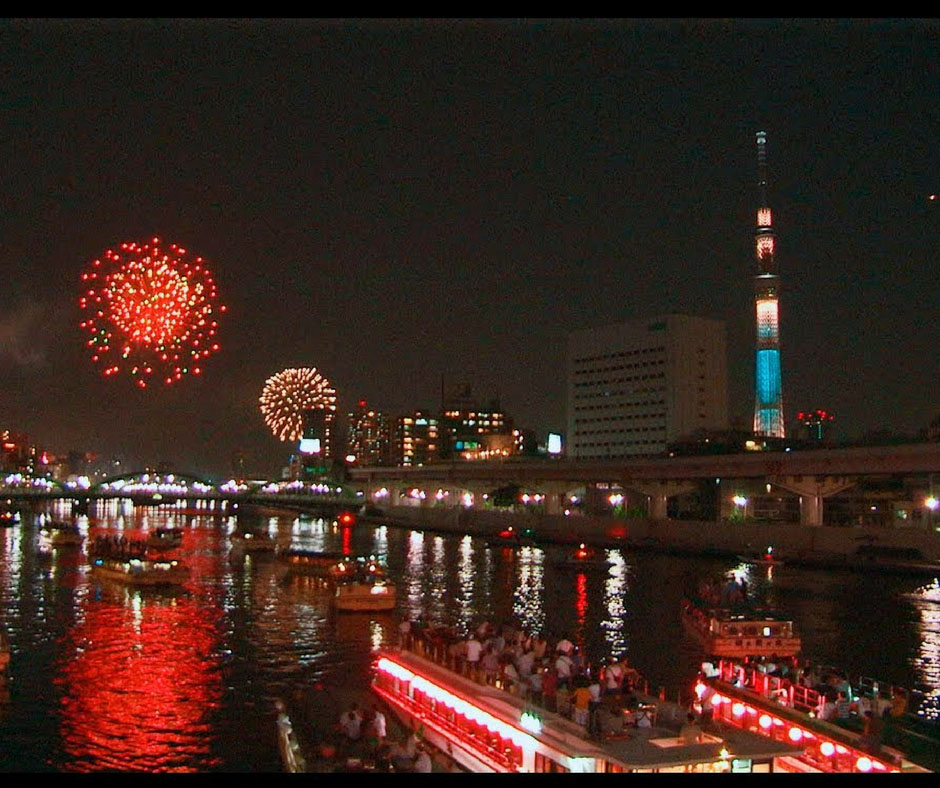 เทศกาลดอกไม้ไฟแม่น้ำซูมิดะ