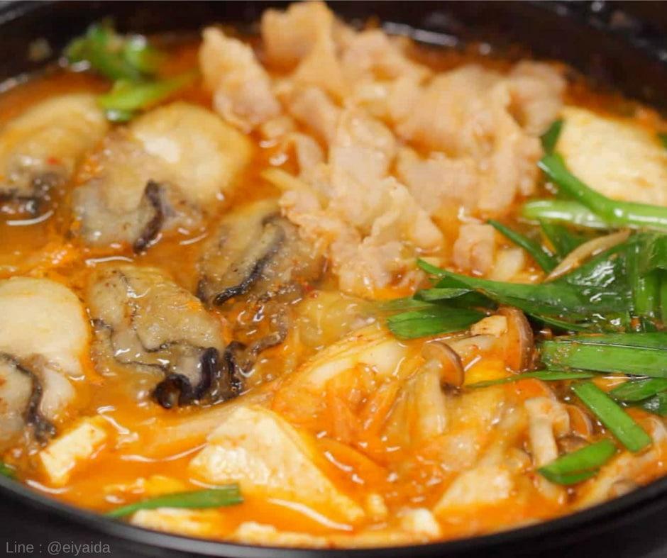 อาหารหน้าหนาวของญี่ปุ่น Kimchi nabe